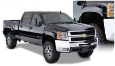 2007-2013 Chevrolet Silverado 1500 WT Front and Rear Pocket Style(R) 69.3 inch bed Fleetside Fender Flare-0
