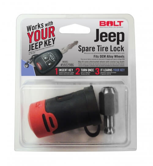 Bolt Jeep Spare Tire Lock 5922986-0
