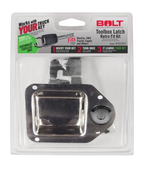 Bolt Locking Tool Box Latch GM Center Cut 7023547-0