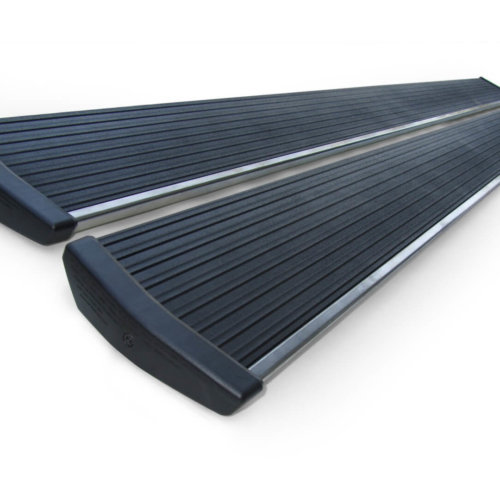 AMP Research 75151-01A PowerStep(TM) Silver Incl. 2 Polished Stainless Steel Strips 2 - 79 in. Extrusions-0