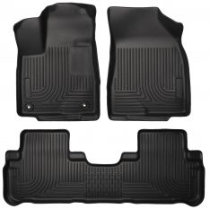Husky Weatherbeater Series Front & 2nd Seat Floor Liners (Footwell Coverage) 99601-0