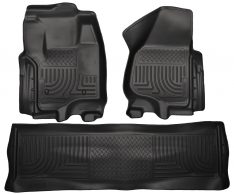 Husky Weatherbeater Series Front & 2nd Seat Floor Liners (Footwell Coverage) 99711-0