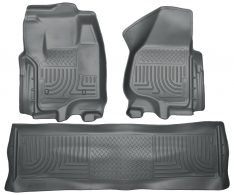 Husky Weatherbeater Series Front & 2nd Seat Floor Liners (Footwell Coverage) 99712-0
