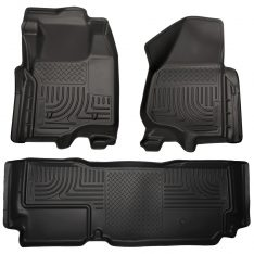 Husky Weatherbeater Series Front & 2nd Seat Floor Liners (Footwell Coverage) 99721-0