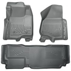 Husky Weatherbeater Series Front & 2nd Seat Floor Liners (Footwell Coverage) 99722-0