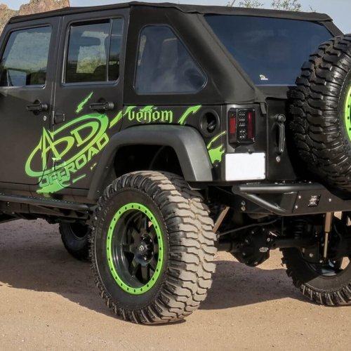 2007-2016 Jeep Wrangler Sport Venom Rear Bumper-0