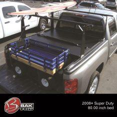2005-2014 Chevrolet Silverado 1500 LTZ BAKFlip CS 69.3inch Tonneau Cover / Truck Bed Rack Kit-0