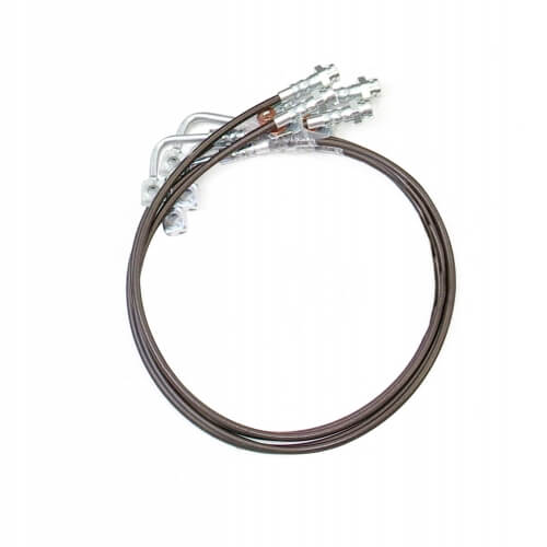 ReadyLIFT Brake Line Front And Rear Braided Stainless Steel 6 in. Length -0