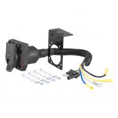 CURT 4-Way Flat To 7-Way Round RV Blade Wiring Adapter-0