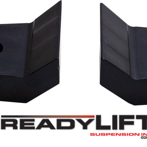ReadyLIFT 1.5 in. Front Leveling Kit Stage 1 Coil Spacers Allows Up To A 35 in. Tire Billet Aluminum Construction w/Black Finish -0