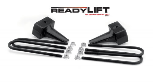 ReadyLIFT 5.0 in. Block Kit Solid Cast Iron Blocks Integrated Rear Bump Stops Locating Pin E-Coated U-Bolts -0