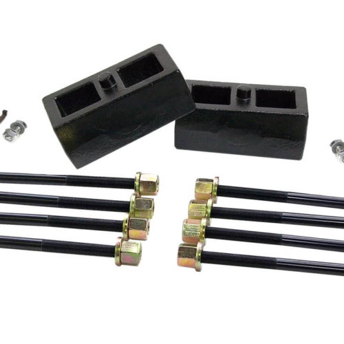 ReadyLIFT 2.0 in. Block Kit OEM Style Model Specific udes Solid Cast Iron Blocks Integrated Locating Pin E-Coated U-Bolts -0