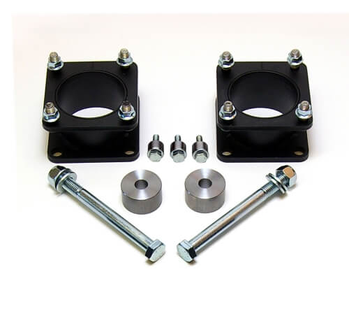 ReadyLIFT 2.4 in. Front Leveling Kit Steel Strut Extensions Allows Up To A 33 in. Tire Front Differential Spacers Front Skid Plate Spacers -0