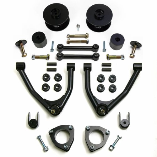 ReadyLIFT SST Lift Kit 4 in. Front/3 in. Rear Lift Front Strut Extensions Upper Control Arms Rear Coil Spring Spacers Rear Sway Bar End Links Bump Stop Extensions -0