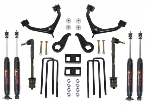 ReadyLIFT SST Lift Kit w/Shocks 4.0 in. Front/2.0 in. Rear Lift SST3000 Shocks Tube A-Arm w/Tow Package -0