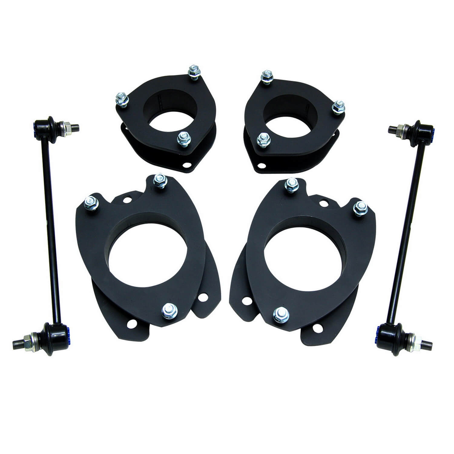 ReadyLIFT SST Lift Kit 2 in  Front/Rear Lift Strut Extensions Front/Rear  Top Mount Strut Spacers Sway Bar End Links
