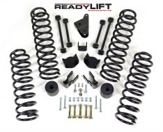 ReadyLIFT SST Lift Kit 4 in. Front/3 in. Rear Lift Coil Springs Front/Rear Sway Bar End Links Rear Track Bar Bracket Bump Stops/Pads Front/Rear Shock Extensions -0