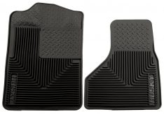 Husky Liners 51201 Semi-Custom Fit Heavy Duty Rubber Front Floor Mat - Pack of 2, Black-0