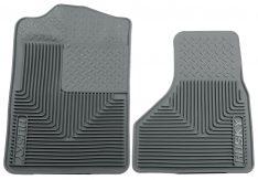 Husky Liners 51202 Semi-Custom Fit Heavy Duty Rubber Front Floor Mat - Pack of 2, Grey-0