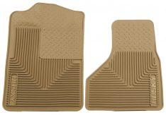 Husky Liners 51203 Semi-Custom Fit Heavy Duty Rubber Front Floor Mat - Pack of 2, Tan-0