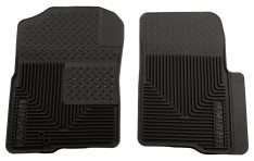 Husky Liners 51231 Semi-Custom Fit Heavy Duty Rubber Front Floor Mat - Pack of 2, Black-0