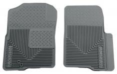 Husky Liners 51232 Semi-Custom Fit Heavy Duty Rubber Front Floor Mat - Pack of 2, Grey-0