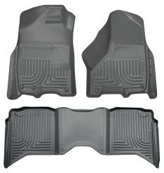 Husky Liners 99002 WeatherBeater Grey Front and 2nd Seat Floor Liner-0