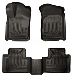 Husky Liners 99051 WeatherBeater Black Front and 2nd Seat Floor Liner-0