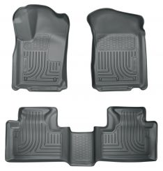 Husky Liners 99052 WeatherBeater Grey Front and 2nd Seat Floor Liner-0
