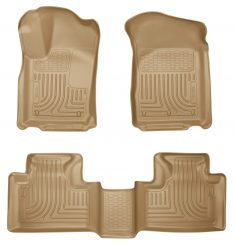 Husky Liners 99053 WeatherBeater Tan Front and 2nd Seat Floor Liner-0
