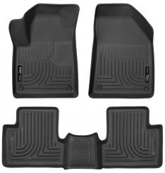 Husky Liners 99091 Weatherbeater Series Black Front and 2nd Seat Floor Liner-0