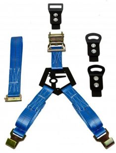 N-Fab Bed Mounted Rapid Strap, Blue-0