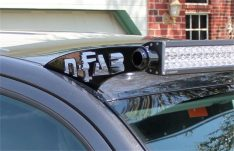 N-Fab Roof Mounted Light Brackets, Textured Black, For Use w/49 to 50 1/2 in. Light Bar, Roof Rain Channel Mount-0
