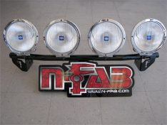 N-Fab Light Bar, Black Powder Coated, No Drill Tow Hook Mount-0