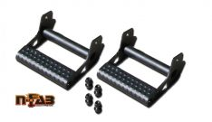 N-Fab Rock Rail Detachable Step, Textured Black, Pair-0