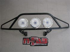 N-Fab Pre-Runner Light Bar, Textured Black, Special Order, Tow Hook Mounted Only, No Drill-0