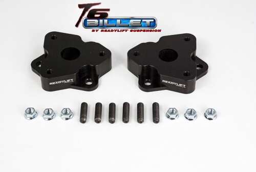 ReadyLIFT T6 Billet Front Leveling Kit 2 in. Front Lift Anodized Black Allows Up To A 35in. Tire -0