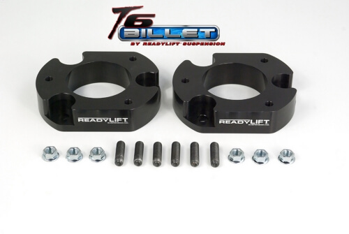 ReadyLIFT T6 Billet Front Leveling Kit 2 in. Lift Black Allows Up To A 35in. Tire May Require Minor Trimming Of Inner Fender Well -0