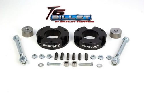 ReadyLIFT T6 Billet Front Leveling Kit 2.25 in. Lift Anodized Black Allows Up To A 33in. Tire -0