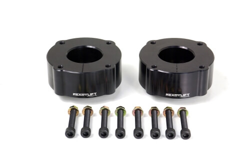 ReadyLIFT T6 Billet Front Leveling Kit 2.4 in. Lift Anodized Black Allows Up To A 33in. Tire -0