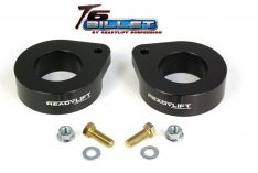 ReadyLIFT T6 Billet Front Leveling Kit 1.5 in. Lift Anodized Black Allows Up To A 33in. Tire -0