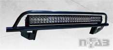 N-Fab Off-Road Light Bar, Textured Black, Special Order, w/License Plate Mount-0