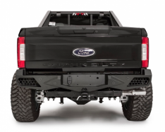 FAB FOURS FS17-E4151-1 VENGEANCE REAR BUMPER WITH SENSOR HOLES FORD F250/F350 2017-2018-0