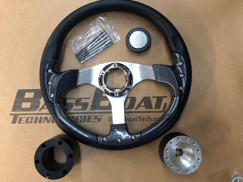 Bass Boat Technologies Ranger Rt Steering Wheel Kit Crossed Industries