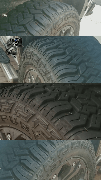 Fury Tires Closeup