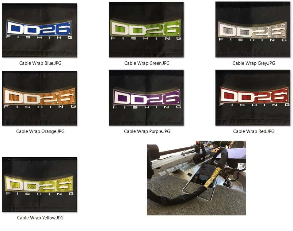 DD26 Trolling Motor Cable Management Sleeve Wrap - Cable Wrap all color swatches
